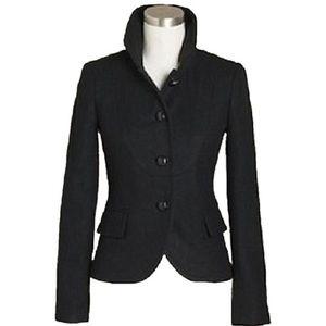 J. Crew black wool Bella herringbone jacket blazer